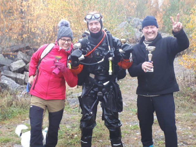 Sarjojen voittajat, Taina, Mikko ja Harri