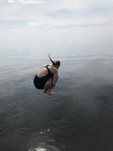 Kun ankkuri on pohjassa kiinni, voi nauttia kesästä!